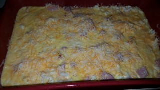 Gluten free, Keto Friendly, Low Carb Ham and Egg Bake